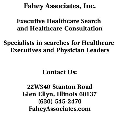 Fahey Associates Corporate Web Site.  Fahey Associates is an executive search firm specializing in physicians and hospital administrators (Meta Data: Fahey, Fahey Associates, doctor, physician, health, health care, hospital, administration, administrator, hospital administration, job, career, executive, executive search, recruiter